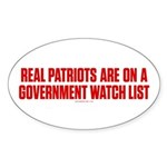 Real Patriots Sticker (Oval 10 pk)