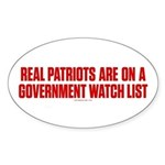 Real Patriots Sticker (Oval)