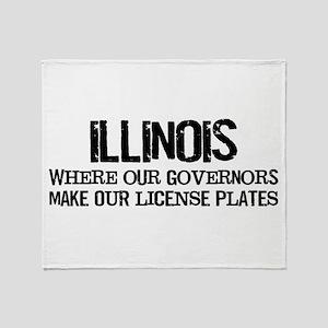Illinois Governor Throw Blanket