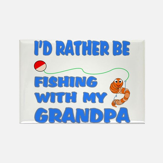 Rather Be Fishing With Grandp Rectangle Magnet