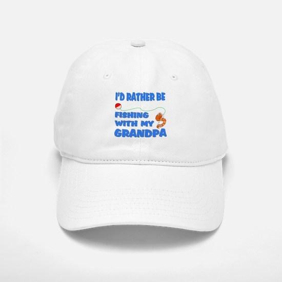 Rather Be Fishing With Grandp Baseball Baseball Cap