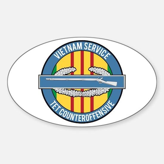 Vietnam TET 69 CIB Sticker (Oval)
