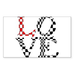 LOVE XXXIII Sticker (Rectangle 50 pk)