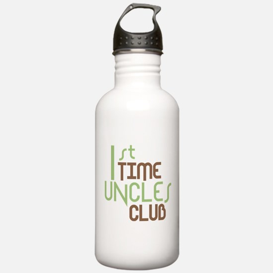 1st Time Uncles Club (Green) Water Bottle