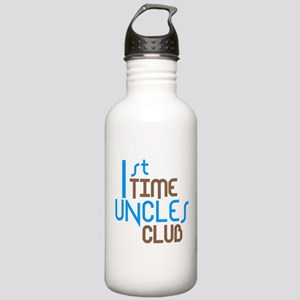 1st Time Uncles Club (Blue) Stainless Water Bottle