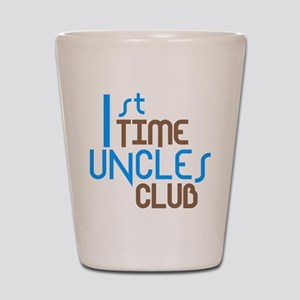 1st Time Uncles Club (Blue) Shot Glass