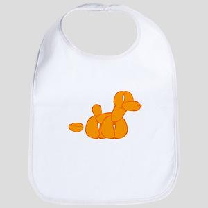 Orange Balloon Dog Poo Bib