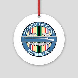 SWA Persian Gulf War CIB Ornament (Round)