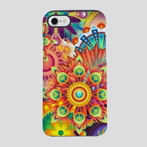Funky Retro Pattern Abstract iPhone 7 Tough Case