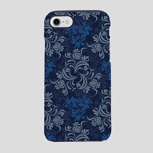Blue Floral Damask iPhone 7 Tough Case