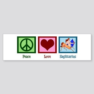 Peace Love Sagittarius Sticker (Bumper)