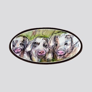 Pigs, Three, Cute, Patches
