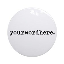 Create Your Own Ornament (Round)