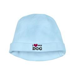 I Love My Dog baby hat