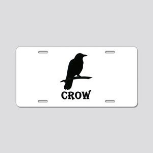 Black Crow Aluminum License Plate