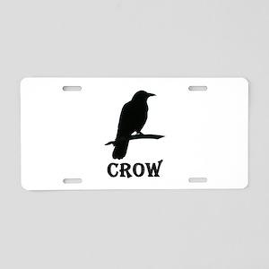 Black Crow Aluminum License Plate