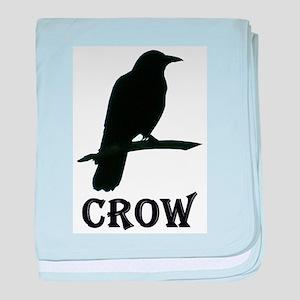 Black Crow baby blanket