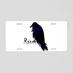 Raven on Raven Aluminum License Plate