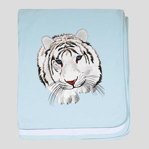 White Bengal Tiger baby blanket