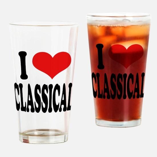 I Love Classical Pint Glass