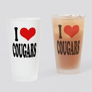 I Love Cougars Pint Glass
