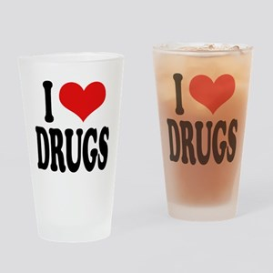 I Love Drugs Pint Glass
