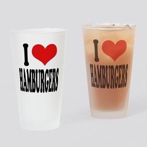 I Love Hamburgers (word) Pint Glass