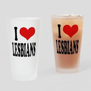 I Love Lesbians Pint Glass
