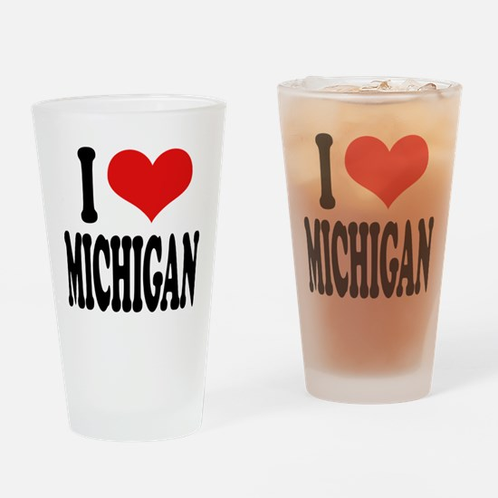 I Love Michigan Pint Glass