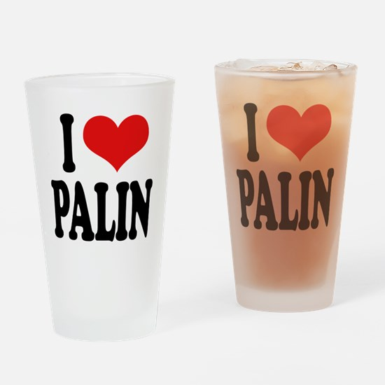 I Love Palin Pint Glass
