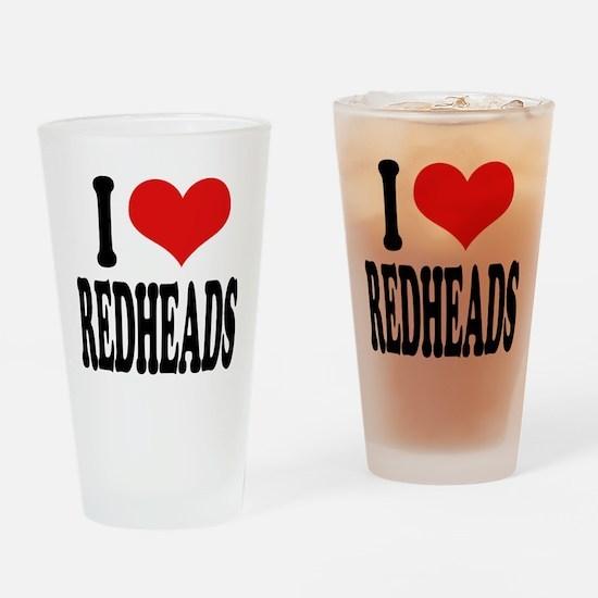 I Love Redheads Pint Glass