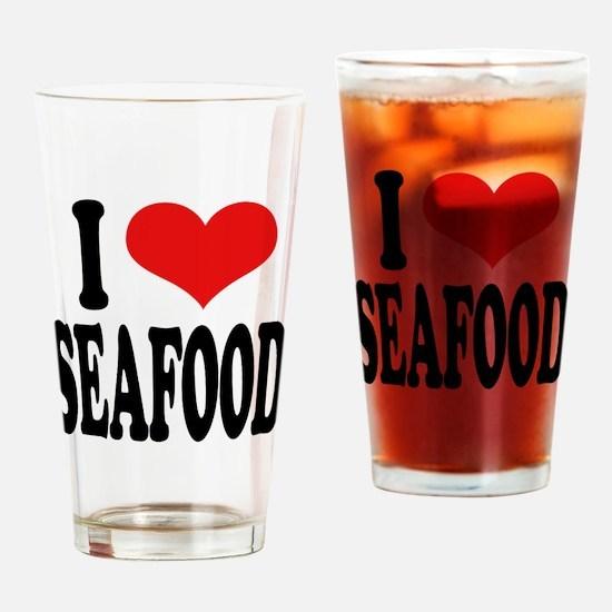 I Love Seafood Pint Glass