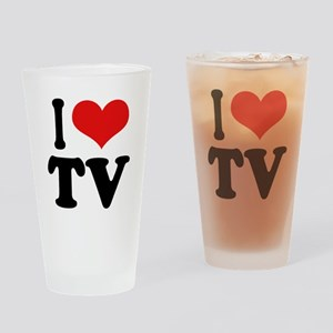 I Love TV Pint Glass