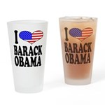 I Love Barack Obama Pint Glass