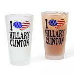 I Love Hillary Clinton Pint Glass