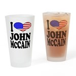 I Love John McCain Pint Glass