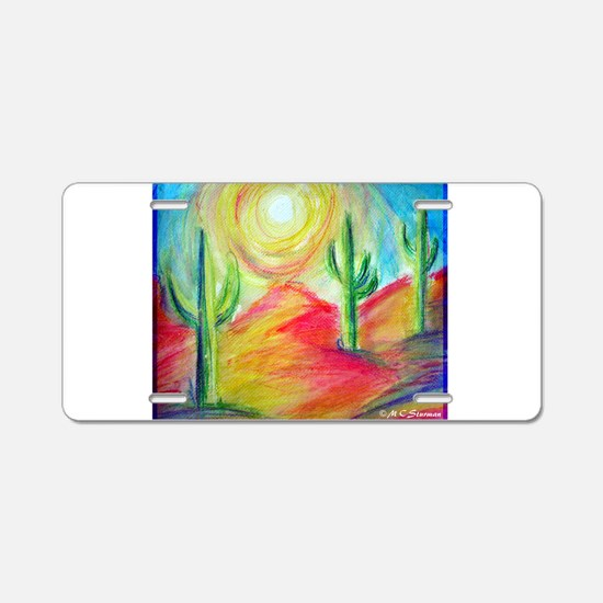 Desert, Sunset Aluminum License Plate