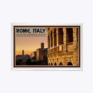 Rome Sunset Rectangle Magnet (10 pack)