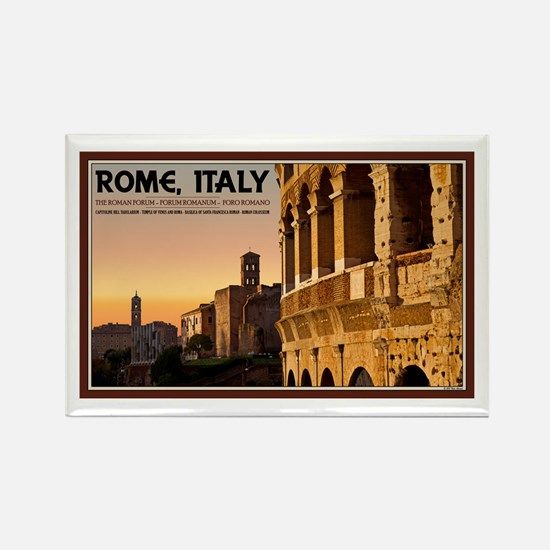 Rome Sunset Rectangle Magnet (10 pack)
