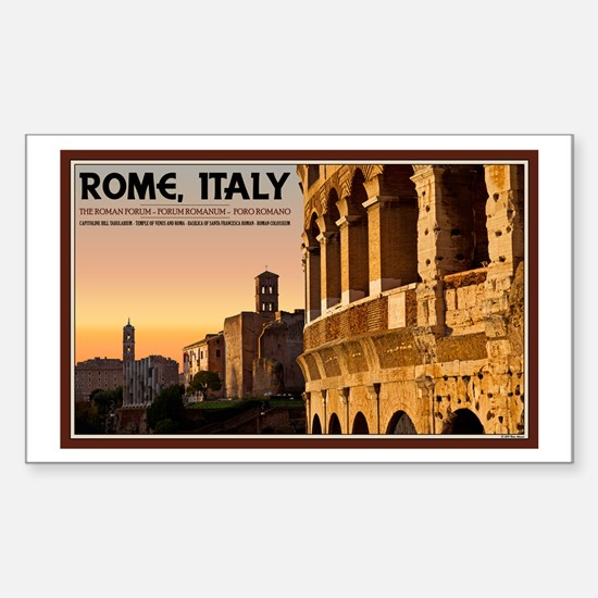 Rome Sunset Sticker (Rectangle)