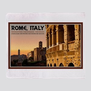 Rome Sunset Throw Blanket