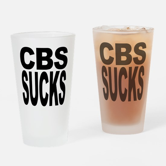 CBS Sucks Pint Glass