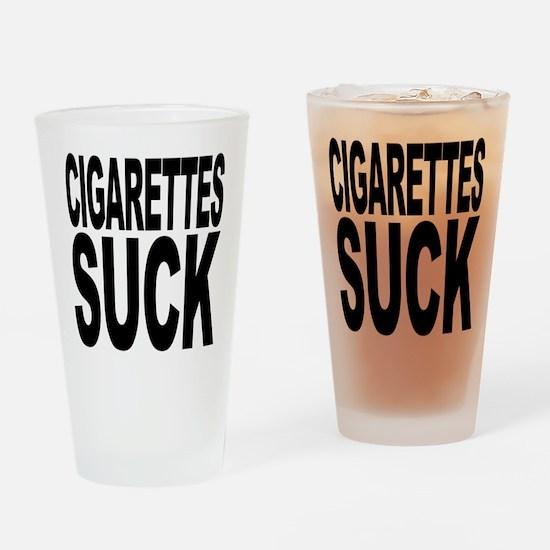 Cigarettes Suck Pint Glass
