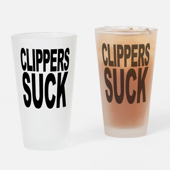 Clippers Suck Pint Glass