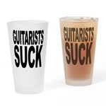Guitarists Suck Pint Glass