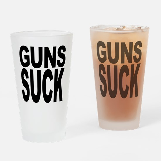Guns Suck Pint Glass