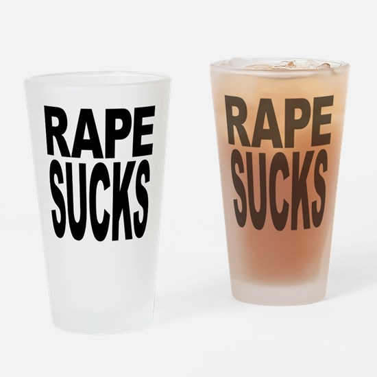 Rape Sucks Pint Glass