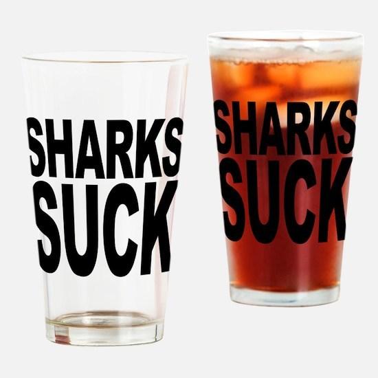 Sharks Suck Pint Glass