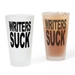 Writers Suck Pint Glass