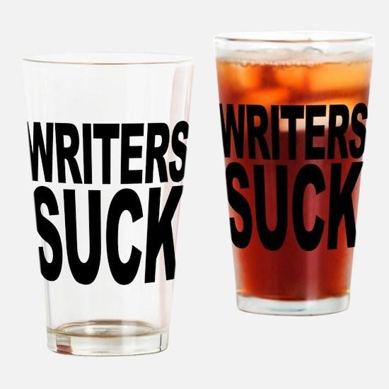 Writers Suck Pint Glass
